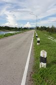 Road On Dam In Thailand
