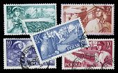Sea Related Professions On Vintage Stamps