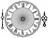 Vector vintage clock