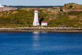 White Lighthouse On Canadian Coast