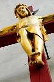 Jesus on the cross red 2
