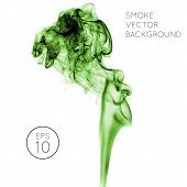 picture of smoke  - Realistic green vector smoke on white background - JPG