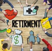 Retirement Payment Pension Planning Salary Money Concept