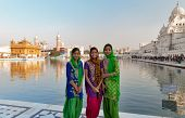 Indian Girls In Golden Temple. Amritsar. India