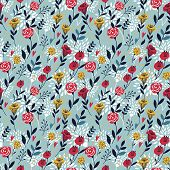 Elegant Cartoon Seamless Pattern