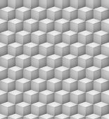 picture of cell block  - Abstract seamless 3D white cubes vector background - JPG