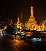 Sule Pagoda - Burmese stupa in  Yangon, Myanmar