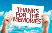 Thanks for the Memories card with sky background