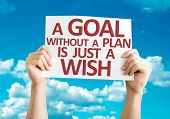 image of goal setting  - A Goal without a Plan is Just a Wish card with sky background - JPG