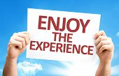Enjoy the Experience card with sky background