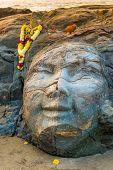 stock photo of shiva  - closeup facial image of Shiva on the beach - JPG