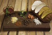 Ingredients For A Taco Dinner