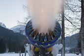 Snow Making Machine Close Up