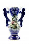 Porcelain Vase On White Background