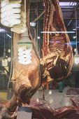 foto of piraeus  - Meat in authentic market - JPG