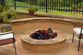 Backyard fire-pit