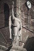 Female Angel Statue In Kirkland. Orkney. Scotland. Uk