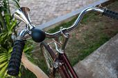 stock photo of hooters  - Old style bicycle air horn vintage object - JPG