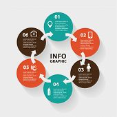 foto of intranet  - Vector circle abstract arrows infographic - JPG