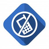 no phone flat icon no calls sign