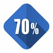 70 percent flat icon sale sign
