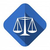 justice flat icon law sign