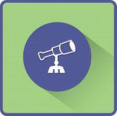 Telescope vector flat icon