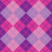Argyle Design in Purple and Pink