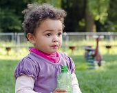 Child With Water Bottle
