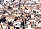 Houses Of Venice Seen From The Bell Tower Of St. Mark