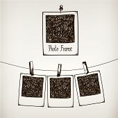 image of studio  - Vector hand drawn doodle illustration of retro photo frame - JPG