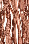 Copper wire industry on white background