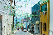 BAHIA, SALVADOR - CIRCA NOV 2014: Colonial houses in Salvador, Bahia, Brazil.