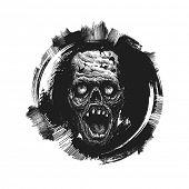 design element for halloween. hand drawn. vector illustration