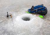 Ice Fishing in winter