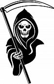 foto of grim-reaper  - Death sign isolated on white for tattoo design - JPG