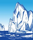 picture of iceberg  - Vector Illustration of iceberg in the ocean - JPG