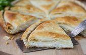 stock photo of phyllo dough  - Tiropita  - JPG