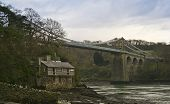 A Cottage Under The Menai Suspension Bridge