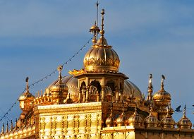 picture of harmandir sahib  - Roof of Golden Temple  - JPG