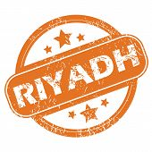 picture of riyadh  - Round rubber stamp with city name Riyadh and stars - JPG