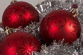 Christmas Balls And Tinsel
