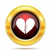 foto of heartbreak  - Broken heart icon - JPG