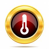 stock photo of fahrenheit thermometer  - Thermometer icon - JPG