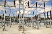 foto of substation  - High voltage switch - JPG