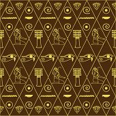 foto of hieroglyph  - pattern of Egyptian hieroglyphics vector illustration - JPG