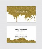 stock photo of ombre  - Business card with golden detail - JPG