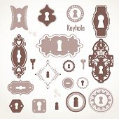 picture of keyhole  - Set of icons keyholes  - JPG