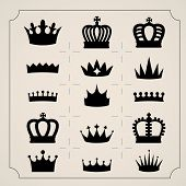picture of crown  - Set of icons twenty crowns - JPG