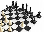 Постер, плакат: Chess Figures And Board